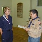 Morgan is presented the Medal for Meritorious Conduct