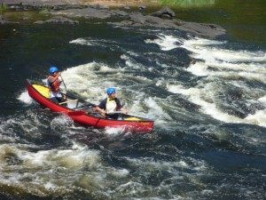 The first real rapid of our downriver trip